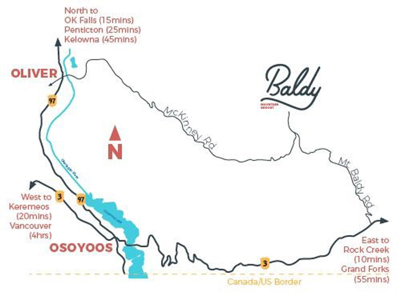 Directions - Baldy Mt Ski Resort in Okanagan, BC Canada
