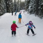 Family skiing at baldy Mountain Resort
