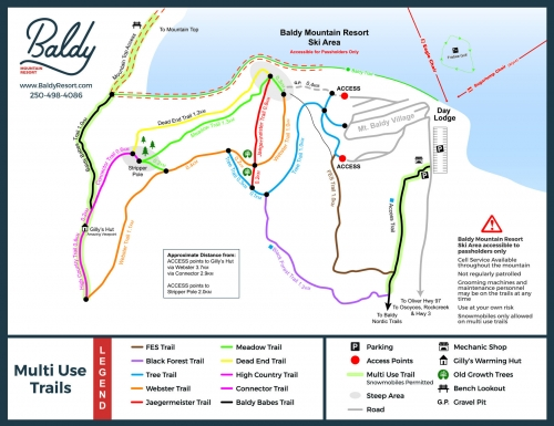 Multi Use Trail Map – PRINT